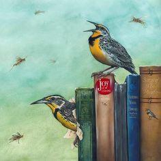Eileen F. Sorg - The Literary Family Animal Books, Creature Feature, Bird Art, Love Art, Art Boards, Pet Birds, Colored Pencils, New Art, Fantasy Art