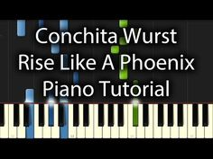 Conchita Wurst - Rise Like A Phoenix Tutorial (How To Play on Piano)