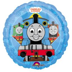18\  Thomas The Tank Engine \u0026 Friends Red Blue Happy Birthday Round Foil Balloon  sc 1 st  Pinterest & 18\