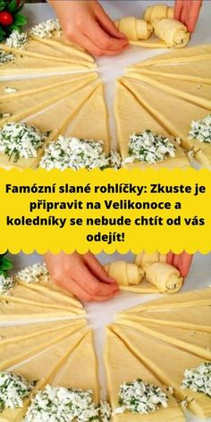 Slovak Recipes, Czech Recipes, Nibbles For Party, Party Snacks, Wrap Sandwiches, Sweet Desserts, A Table, Food To Make, Good Food