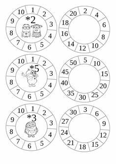 Multiplication Wheels - get cr Multiplication And Division, Multiplication Facts, 3rd Grade Math, Math Class, Math Games, Math Activities, Montessori Math, E Learning, School Worksheets