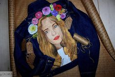 Hand painted Jacket with painting Jacket with art work on it
