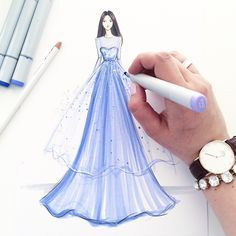 Sundays are for [dreaming of] couture watch ⌚️: Dress Design Sketches, Fashion Design Drawings, Fashion Sketches, Fashion Drawing Dresses, Fashion Illustration Dresses, Drawing Fashion, Fashion Moda, Fashion Art, Fashion Outfits