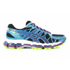 ASICS Womens Gel-Kayano 20 Black/Plum/Blue | Asics Shoes | The Athletes Foot