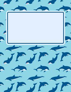 Free printable dolphin binder cover template. Download the cover in JPG or PDF format at http://bindercovers.net/download/dolphin-binder-cover/