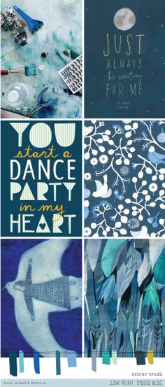 love print studio blog: Colour crush...something blue