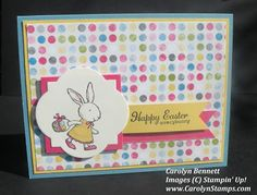 Carolyn's Paper Fantasies: Monday Lunchtime Sketch Challenge (TSSC253) Stampin Up Carolyn Bennett Easter Everybunny Sunshine and Sprinkles