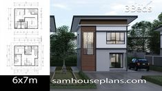 House Plans Idea with 3 BedroomsThe House has:-Car Parking and garden-Living room,-Dining Bedrooms, 3 bathrooms, storage 2 Bedroom House Plans, Duplex House Plans, Modern House Plans, Small House Plans, The Plan, How To Plan, Small House Design, Modern House Design, Garden Living