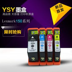 4pcs  Compatible lexmark 150xl ink cartridge for S315/S415/S515/Pro715 printer