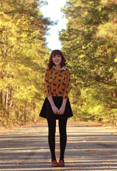 The Clothes Horse - sweater layered over a collared blouse