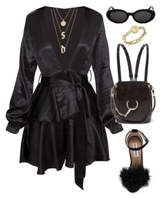 """""""Untitled #771"""" by za-r-ia ❤ liked on Polyvore featuring Steve Madden, Chloé and Bloomingdale's"""
