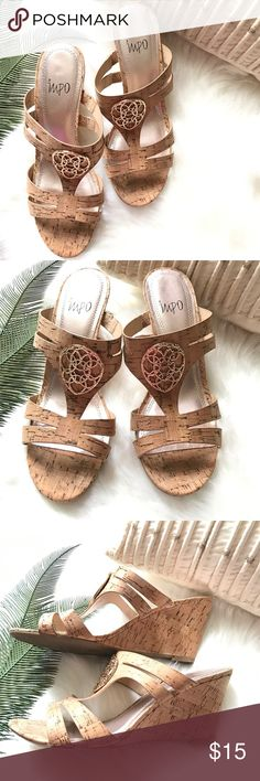 IMPO LIGHT BROWN SANDALS SIZE 7.5 This is pretty Impo light brown pair of sandals was only used once. it is in perfect condition that looks like new.This is stored in an air-conditioned room that is pet free and smoke free. Size is 7.5 with goldtone hardware design in the middle. Fashionable and functional sandals. Great deal! impo Shoes Sandals