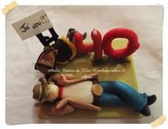 Topo de bolo personaliziado cowboi