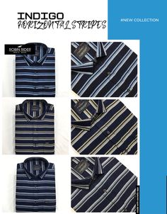 Casual Wear, Casual Shirts, Indigo, Stripes, How To Wear, Fashion, Casual Outfits, Moda, Casual Clothes