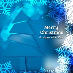 Blue Christmas Tree Background with Snowflakes Christmas Tree Ideas 2018, Homemade Christmas Tree, Christmas Tree Garland, Merry Christmas And Happy New Year, Blue Christmas, Christmas Tree Decorations, Xmas, Free Christmas Backgrounds, Winter Backgrounds