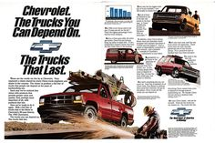 1991 Chevrolet Trucks Blazer Original 2 Page Magazine Ad Classic Chevrolet, Chevy Chevrolet, Gm Trucks, Chevy Trucks, Corvette, Convertible, S10 Blazer, Car Advertising, Magazine Ads