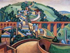 Broadbottom, near Glossop Edward Alexander Wadsworth (1889–1949) 1922 Bradford Museums and Galleries