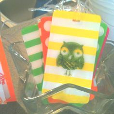 Trunk Show Luggage Tags @ Three Brown Girls and a Basket