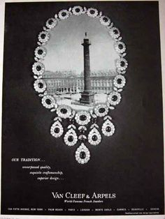 Van Cleef & Arpels  Vogue, October 15, 1961