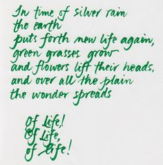 """Langston Hughes """"In time of silver rain"""""""