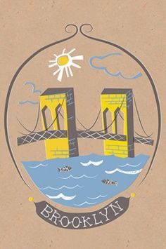Brooklyn Bridge postcard | Tammy Smith Design
