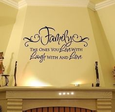 Family Wall Decals - Live Laugh Love Vinyl Wall Decal Quote Lettering Transfer 22H x 36W QT0019., via Etsy.