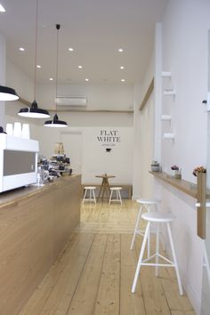 Artisan Cafe, Espresso Bar, White Flats, White Tiles, Cafe Design, Athens, Lighting Design, Interior Architecture, Greece