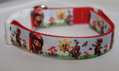 Awesome Mario Sunshine 1 Inch Dog Collar by BonzaiGifts on Etsy, $16.00