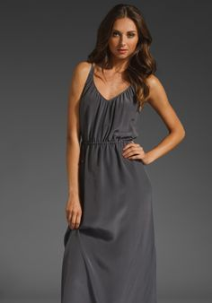 LA MADE Silk Libby Maxi Dress in Gloomy at Revolve Clothing - Free Shipping!