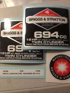 Briggs Stratton Com >> 1000+ images about Briggs & Stratton decal set for old opposed twins on Pinterest | Decals ...