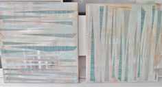 Neutral Abstract Wall Art Set of Two Canvas and by Pinoodles
