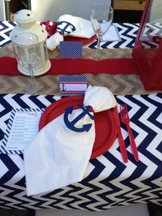 Party Table Decorations, Party Decoration, Party Centerpieces, Baby Shower Decorations, Party Themes, Ideas Party, Halloween Decorations, Navy Party, Nautical Party