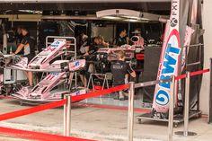 Force India team, Formule 1 GP 2017 op de Red Bull Ring in Spielberg Oostenrijk