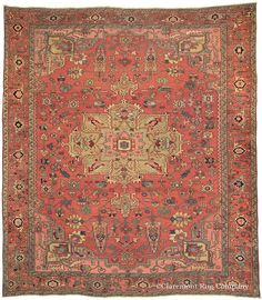 FEATURED ARRIVAL: SERAPI, Northwest Persian, 9ft 10in x 11ft 3in, Circa 1875 http://www.claremontrug.com/antique-rugs-information/collecting/