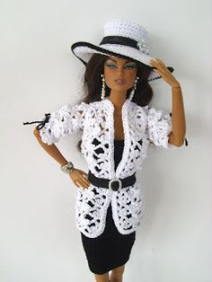 As Grandma In Time: CLOTHING FOR CROCHET BARBIE
