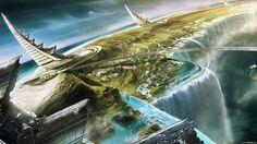 Science-Fiction Großstadt  Wallpaper