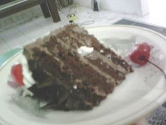 hmmm... yummy dummy black forest cake