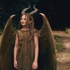 Isobelle Molloy as a young Maleficent. I thought she was just adorable and beautiful as the young Maleficent.