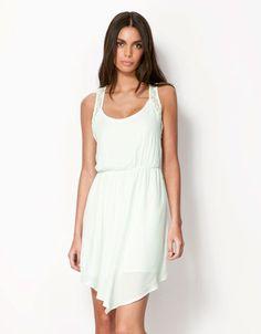 Bershka Egypt - Bershka asymmetric hemline dress