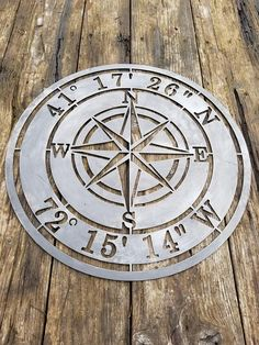 Let me make your Personalized Compass Rose an heirloom that will last for generations using thick solid steel. Your … – metal of life Personalized Metal Signs, Custom Metal Signs, Metal Projects, Metal Crafts, Metal Tree Wall Art, Metal Art, Cnc Plasma Table, Plasma Torch, Bois Diy