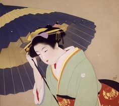 UEMURA, Shoen : Snow   (1942)   color on silk, hanging scroll   66.6×73.9    The National Museum of Modern Art, Tokyo