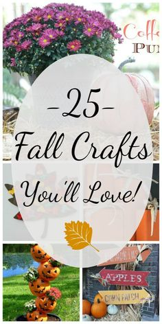 Indoor crafts, outdoor decor, pumpkins, autumn leaves and everything in between- if you are looking for a fun fall craft, you're sure to find something here!