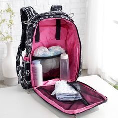 Ju Ju Be Be Right Back Diaper Bag Backpack - Shadow Waltz - Backpack Diaper Bags at Diaper Bags