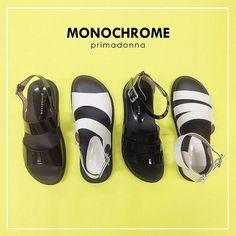 Patent leather sandals in monochrome! Take your pick? #primadonnaph #primadonna  Visit at upper ground floor #ILoveSM #ILoveSMStaMesa #fashionforward
