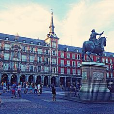 Plaza Mayor, Madrid.  Great place to soak up the Spanish sun and watch the world go by.