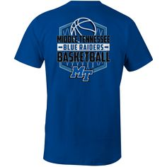 It's basketball season in Middle Tennessee! Gear up for another year with this basketball tee. Go Blue Raiders! #MTSU #textbookbrokers #blueraiders