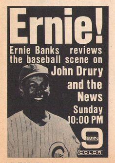 Ernie Banks reviews the baseball scene on WGN, 1969.