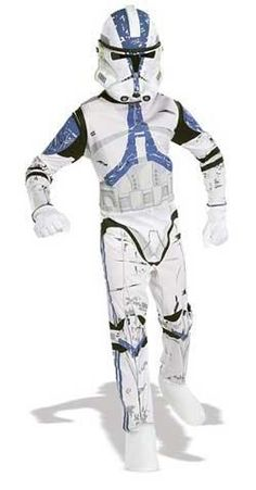 """Buy Star Wars Clone Trooper Adult Mens Costume at Mighty Ape NZ. """"Who is to say what the future holds?"""" Serve the Grand Army of the Republic in this awesome Clone Trooper mens costume that gets you right in to char. Star Wars Halloween, Halloween Books, Halloween Costumes For Kids, Halloween Ideas, Group Halloween, Clone Trooper Costume, Costume Star Wars, Black Tees, Family Kids"""