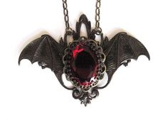 awesome vampire jewelry | Gothic Jewelry, Vampire Bat Necklace, Victorian Goth Jewellery...
