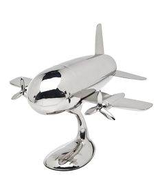 so perfect for my plane crazy friends!! Airplane Shaker & Stand | zulily